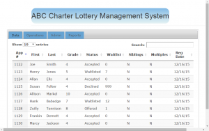 Charter School Lottery Management System